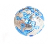 Glass Lamp Bead Round 12mm Crystal/Blue